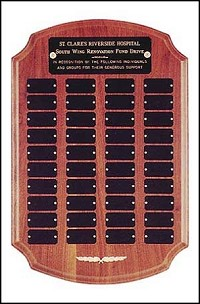 "Perpetual Recognition Plaque - 12""x18""- 40 Plates"