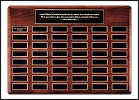 "Perpetual Recognition Plaque 22""x30"" - 48 Plates"