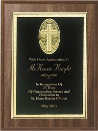 "8""x10"" Engraved Religious Plaque"