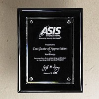 "Black Piano Finish Glass Recognition Plaque - 9""x12"""