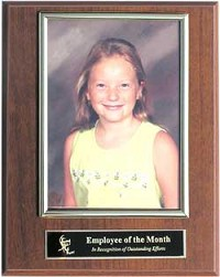 "7""x9"" award plaque with photo"