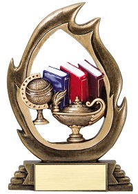 Resin Flame Knowledge Trophy
